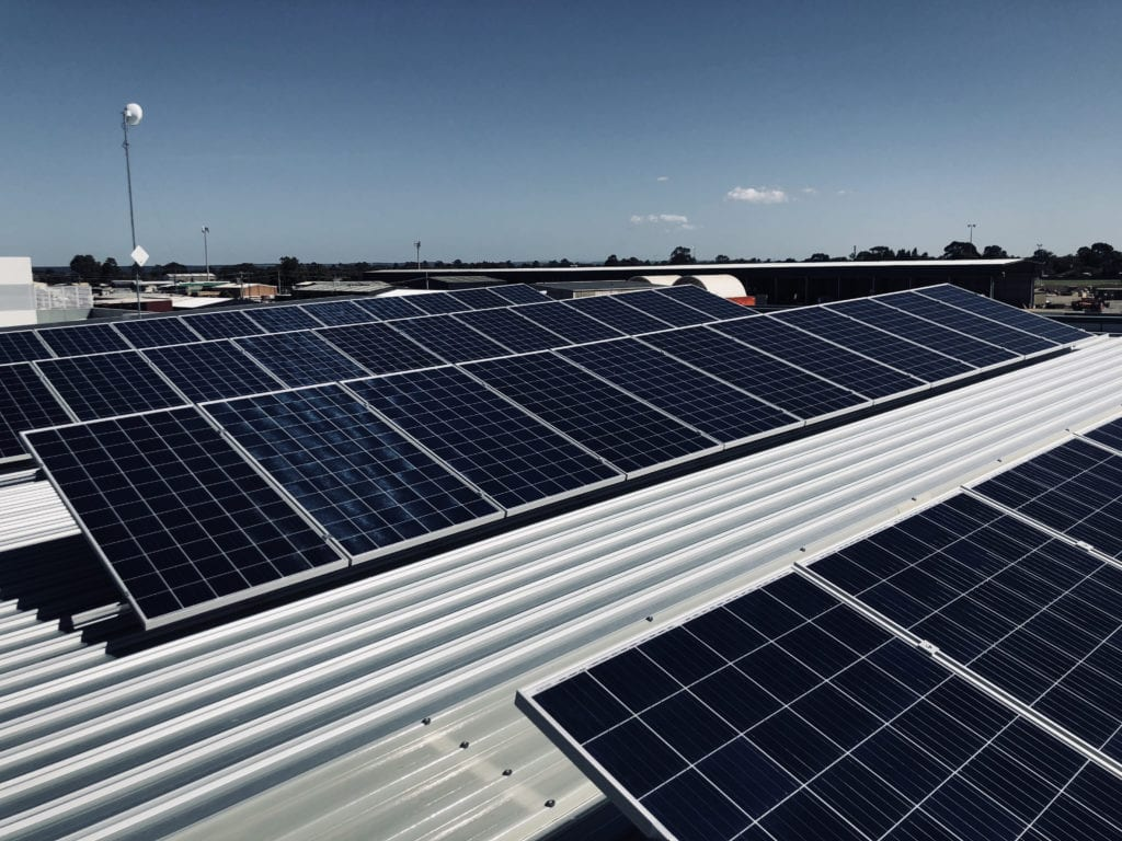 Gippsland Business City Technology in Sale with Solar Panels on Roof
