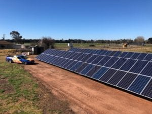 Ground Mounted Solar Installation Completed