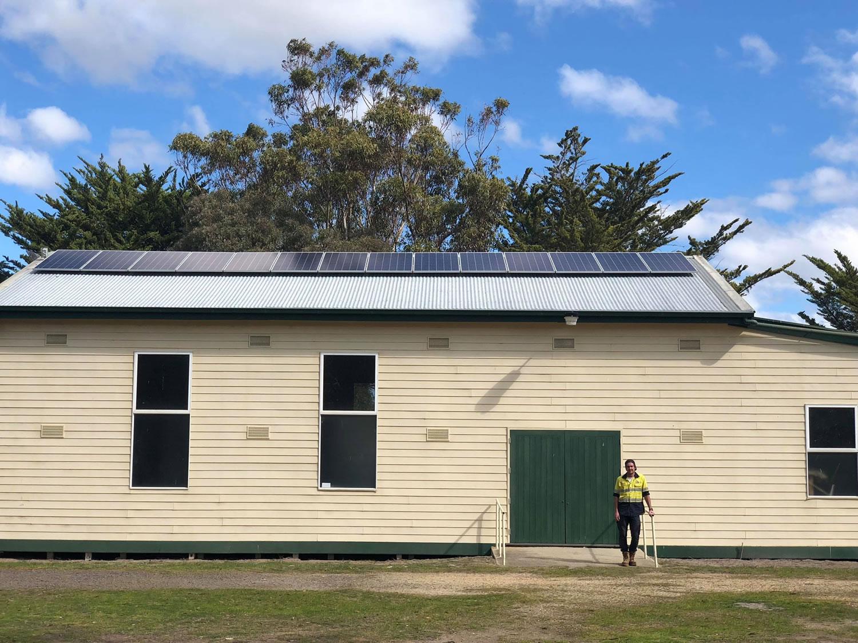 Delwp Stradbroke Solar Installation 1 Solar Gippsland